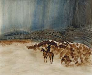 Kelly and Landscape by SIDNEY NOLAN