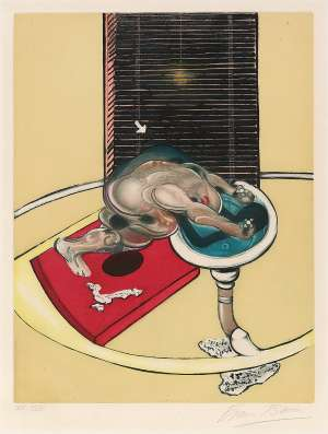 Figure at a Washbasin, from Requiem pour la Fin des Temps by FRANCIS BACON