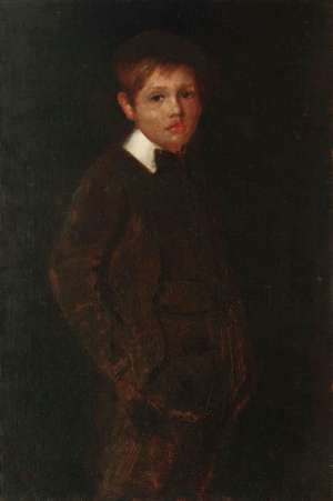 Portrait of the Artist's Son, Caleb by TOM ROBERTS