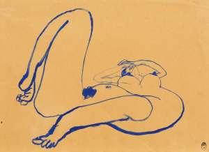 Blue Nude 4 by BRETT WHITELEY