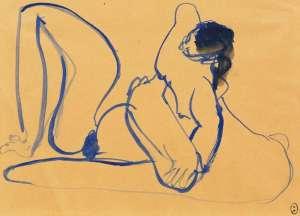 Blue Nude 5 by BRETT WHITELEY