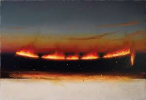 Evening Fire Line by TIM STORRIER