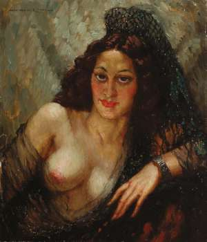 The Mantilla by NORMAN LINDSAY
