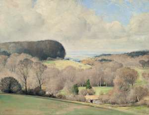 TOM ROBERTS A Kentish Landscape (Spring in Dorset) image