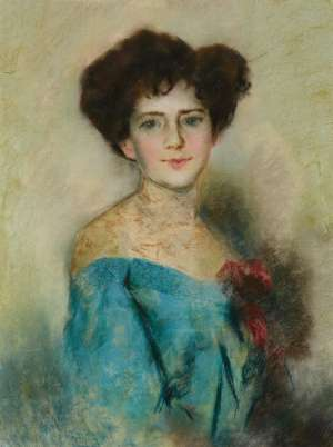 TOM ROBERTS Portrait of a Lady (Possibly Lady Hopetoun) image
