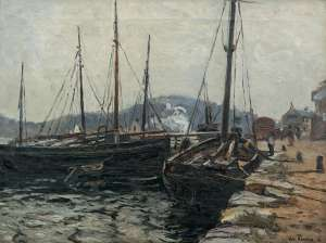 Port Scene with Fishing Boats by WILL ASHTON image