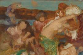 Study for On the Seaweed II (Study for Sur le Tapis de Varech) by RUPERT BUNNY
