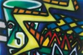 Zappo (Cityscape Mural) by HOWARD ARKLEY