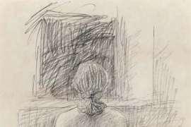 Standing Nude by JOHN BRACK