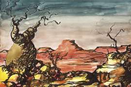 Landscape with Boab by RUSSELL DRYSDALE