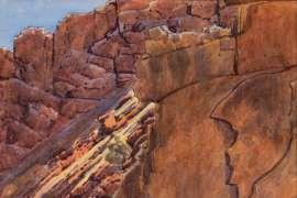 Glen Helen Gorge by ALBERT NAMATJIRA