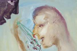 Girl and Flowers by SIDNEY NOLAN