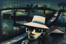 Man in Night Landscape by CHARLES BLACKMAN