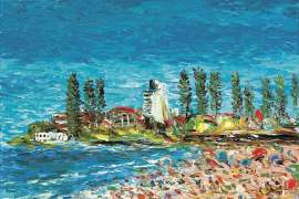 Beach Scene by PRO HART