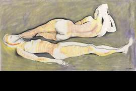 Two Nudes Bathing by CHARLES BLACKMAN