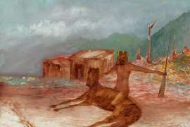 Kelly and Horse by SIDNEY NOLAN