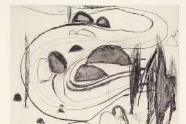 The Fish River and Boulders, Oberon by BRETT WHITELEY