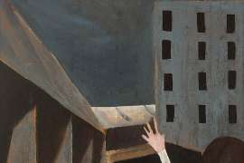 Schoolgirl in an Urban Landscape by CHARLES BLACKMAN