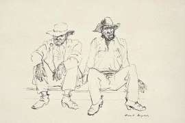 Two Workers by RUSSELL DRYSDALE