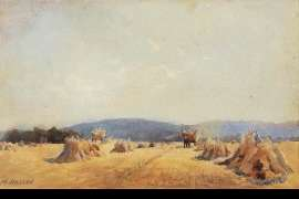 Untitled (Haystacks) by HANS HEYSEN