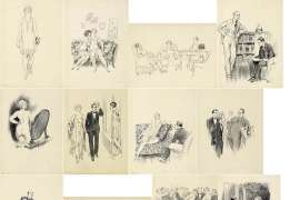 Folio of Unpublished Novel Illustrations by NORMAN LINDSAY