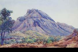 Mt Undoolya by ALBERT NAMATJIRA