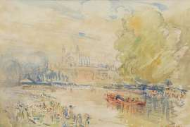 The King's Barge, Eton by ARTHUR STREETON