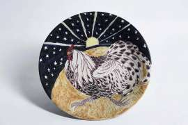 Untitled (Rooster with Sunset) by WILLIAM ROBINSON