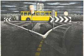 The Waiting Bus by JEFFREY SMART