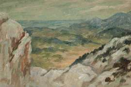 Sketch for 'Overlooking the Gorge Ollioules' by RUPERT BUNNY