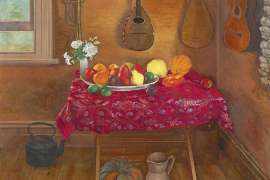 Summer Fruit with Musical Instruments by BRIAN DUNLOP