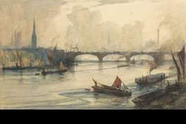 Battersea Bridge and Thames Tide by ARTHUR STREETON