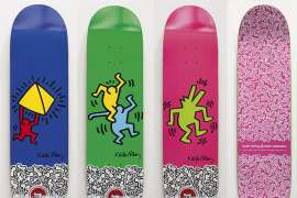 Iconic Collection of Skateboards by KEITH HARING