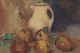 Still Life with Apples and Jug by CLIFTON PUGH