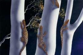 Nampiri Djutijutu Benarra (Air Brush Gum Trees) by LIN ONUS