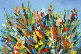 Floral Still Life by PRO HART