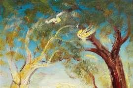 Three Children Playing in the Bush III by DAVID BOYD