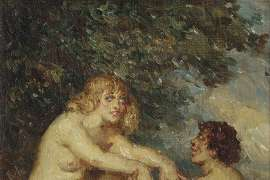 The Bathers by NORMAN LINDSAY