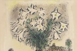 Les Arums by MARC CHAGALL
