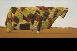 Study for Camouflage Cow by JOHN KELLY