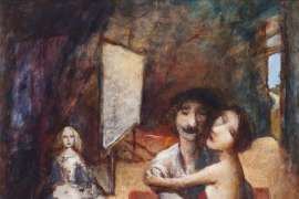 Velázquez and Muse (Homage to Las Meninas) by GARRY SHEAD