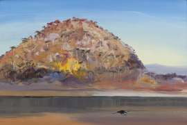 Riversdale Hill with Single Blackbird by ARTHUR BOYD