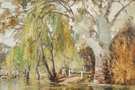 Untitled (River Landscape with Willows) by ROBERT JOHNSON