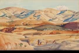 Sea of Hills (Flinders Ranges) by HANS HEYSEN
