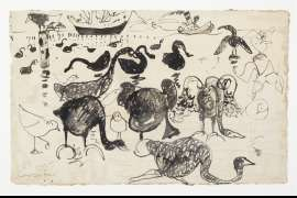 Black Swans at Williamstown by JOHN PERCEVAL