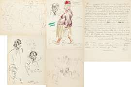 A collection of notebooks, sketchbooks and newspaper clippings by WILLIAM DOBELL