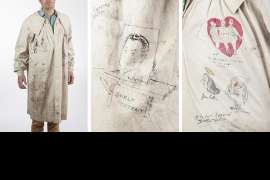 An artist's smock, illustrated by colleagues and friends of William Dobell at 'Bulletin' magazine by VARIOUS ARTISTS