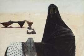 Arab on a Donkey by CLIFTON PUGH