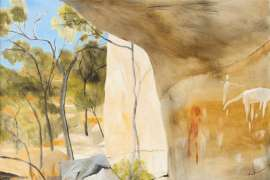 Aboriginal Cave Painting, North Queensland by RAY CROOKE