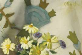 Marguerites and Cornflowers by CONSTANCE STOKES